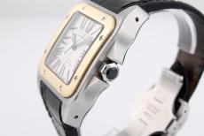 Cartier Cartier Montre Santos 100 XL stainless steel/ Gold