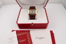 Cartier Divan XL Gelbgold Automatik