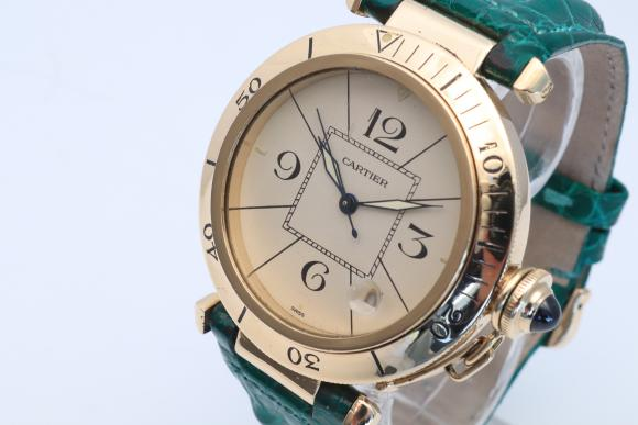 Cartier Pasha Automatic 18KT Gelbgold Ref.820903