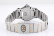 Cartier Santos Ronde Quarz mens watch stainless steel/ Gold