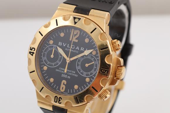Other brands Bulgari Scuba Chrono Yellowgold