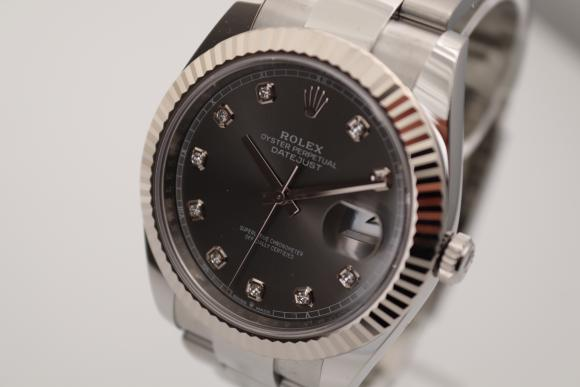 Rolex Datejust 41 Ref.126334 Grey-Dia unworn