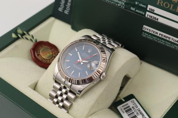 Rolex Datejust Turn-o-Graph blue