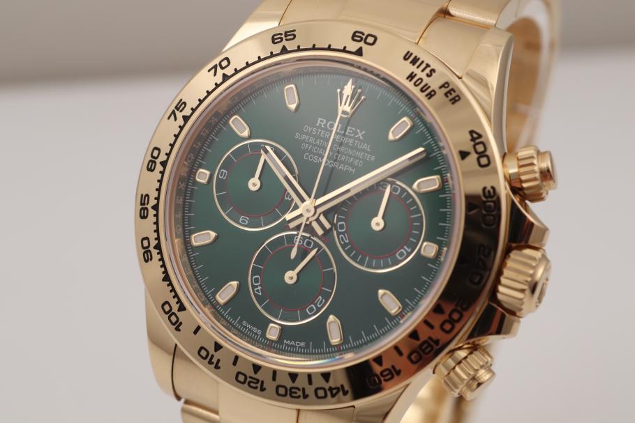 Rolex Daytona Green 18KT Gelbgold Ref.116508