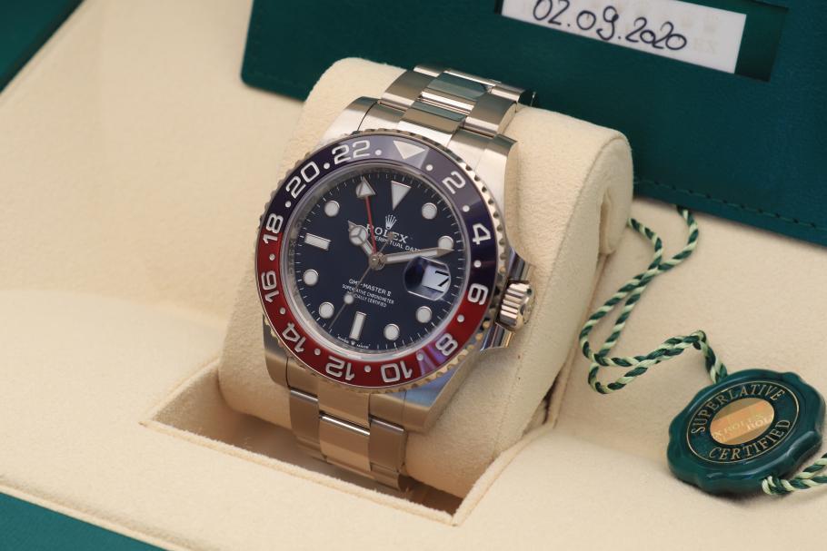 Rolex GMT Blue-Whitegold Ref.126719BLRO