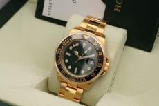 Rolex GMT Master II Gelbgold green