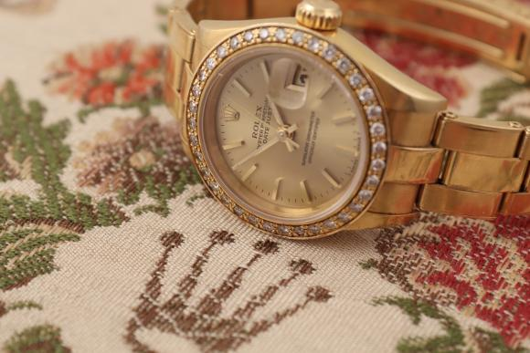 Rolex Lady Datejust in 18 Karat Gelbgold
