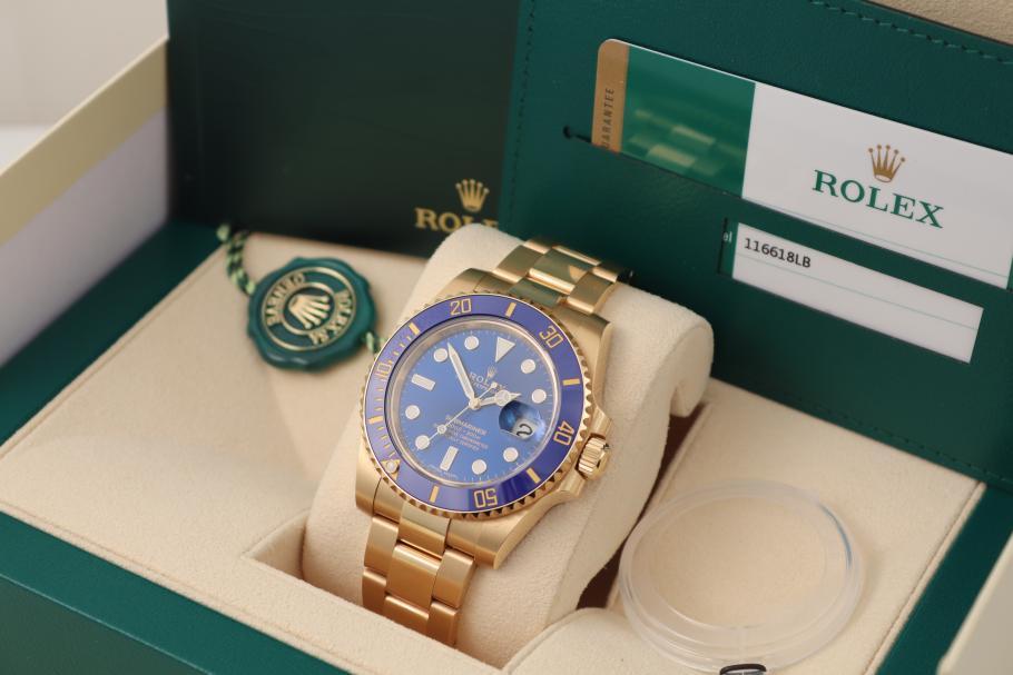 Rolex Submariner blue 18K Yellowgold 2019